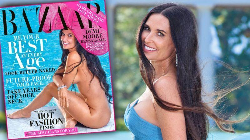 Деми Мур позираше гола за магазинот Harper's Bazaar